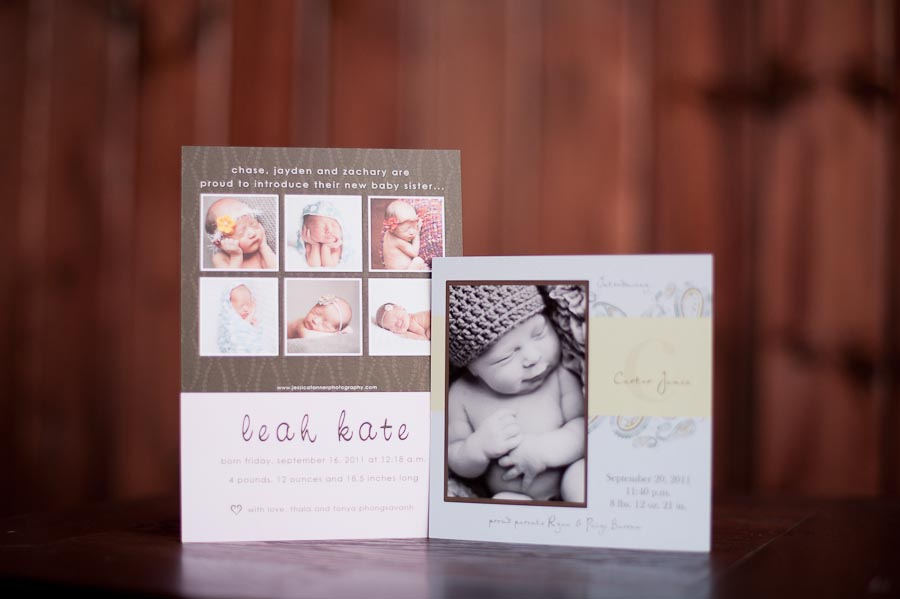 Newborn Birth Announcement - Jessica Tanner Photography