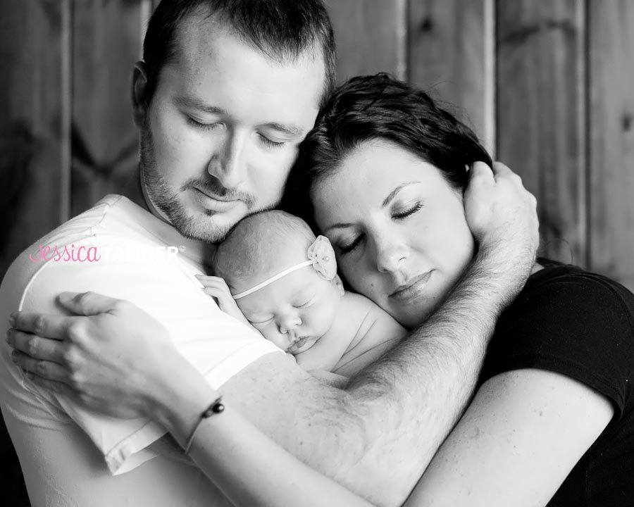 Newborn Baby Girl with mom and dad
